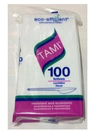Cuchillo TAMI Paquete x 100 Unidades